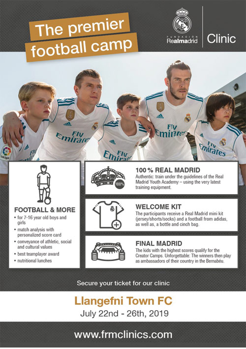 REAL MADRID ARE COMING TO LLANGEFNI FC!